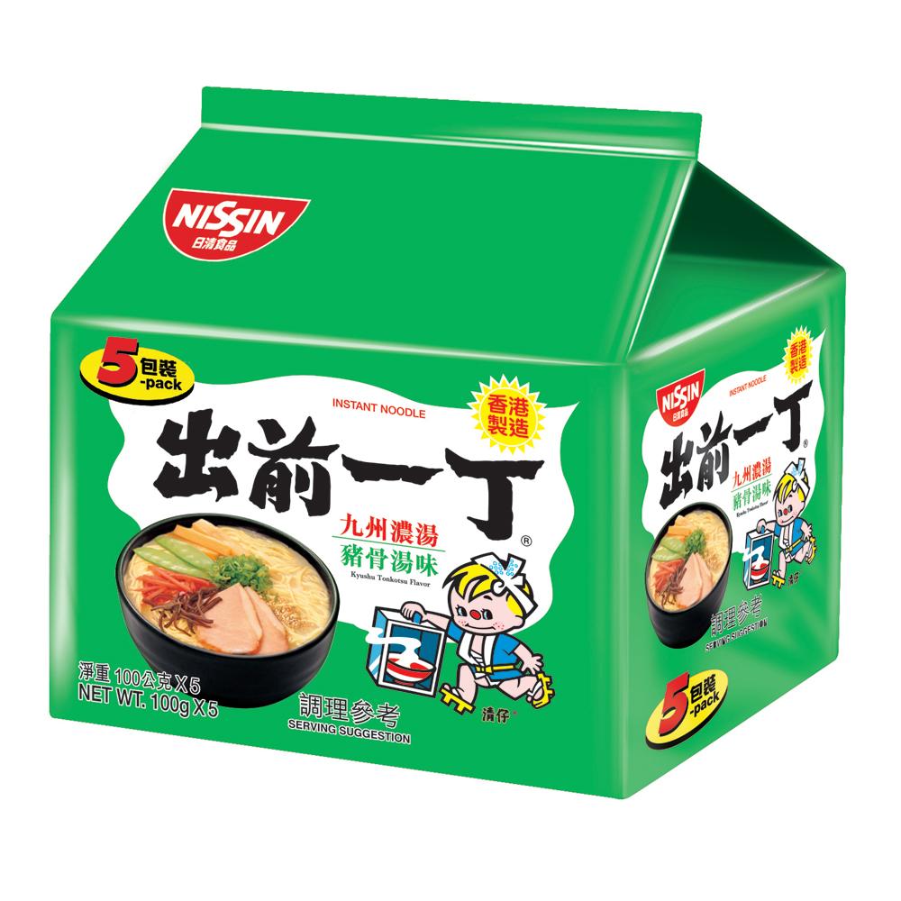 日清 出前一丁九州濃湯豬骨湯味速食麵(100gx5入)