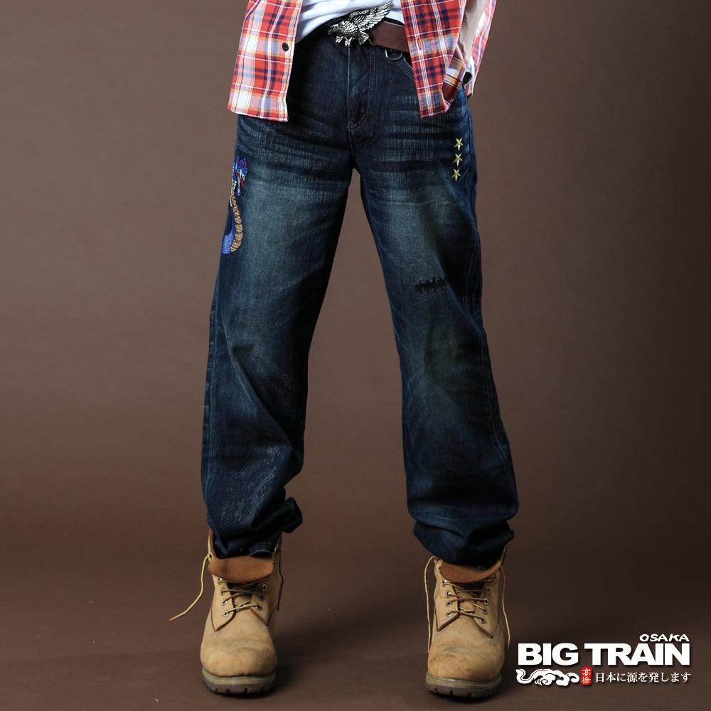 BIG TRAIN-COBRA眼鏡蛇垮褲-深藍