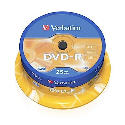Verbatim 威寶 DVD-R 4.7GB 16X 25片 Spindle 光碟片