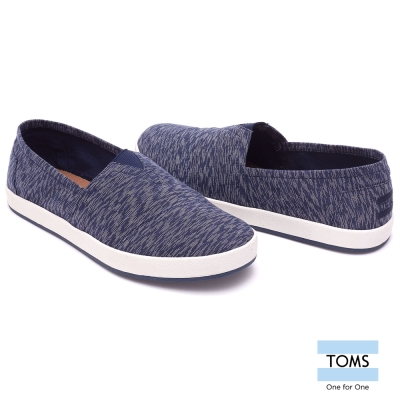 TOMS 紋理紡織帆布懶人鞋-男款(藍)