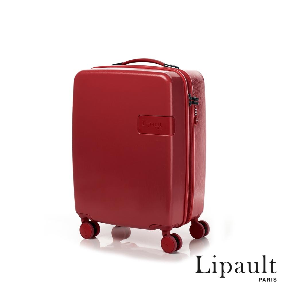 法國時尚Lipault 20吋Lucky Plume可擴充硬殼TSA登機箱(寶石紅)