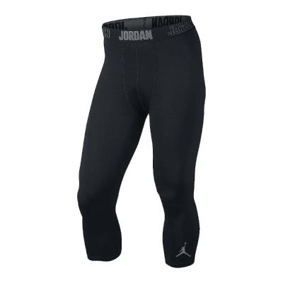 Nike 23 Pro Dry 3/4 緊身 長褲 男 黑灰