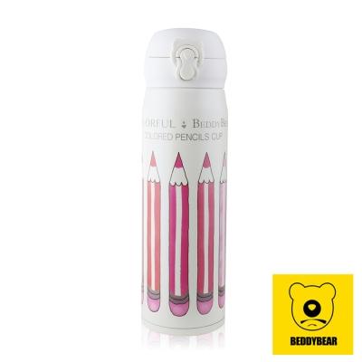 韓國BEDDY BEAR 鉛筆彈蓋款保溫保冷瓶450ML