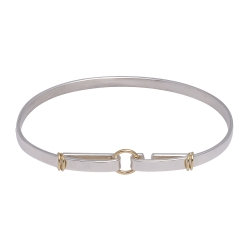 TIFFANY&Co. 純銀925 750圓圈造型勾式手環