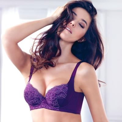 黛安芬-逆齡Bra-顯瘦款-B-E罩杯內衣-搖曳春紫藤