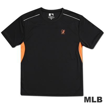 MLB-巴爾的摩金鶯隊反光合身吸濕排汗T恤-黑(男)
