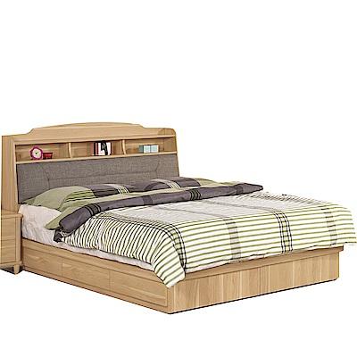 品家居  瑪安5尺雙人收納床台組合(不含床墊)-151.5x211.5x105.5cm免組