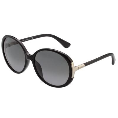 TOD'S 復古圓框 太陽眼鏡 (黑色)TO9049