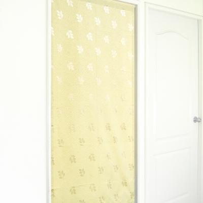 布安於室-五葉緹花風水簾-米色