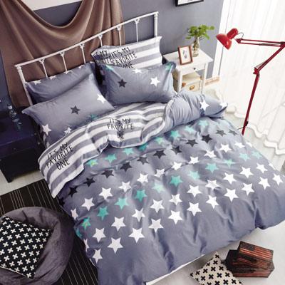 Grace Life 星之物語 精梳純棉加大涼被床包四件組
