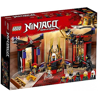 樂高LEGO 旋風忍者系列 LT70651 王座室決戰