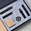 KERBHOLZ 原木手錶 FRITZ禮盒組 - 核桃木 - 夜黑/40mm