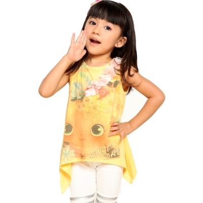 魔法Baby~立體花朵大眼睛女孩插畫背心~k26917