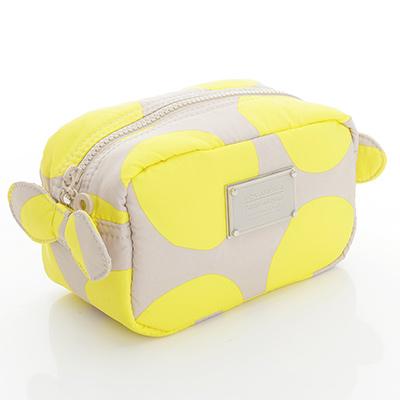 VOVAROVA空氣包-裝不滿化妝包-波卡圓點(黃)
