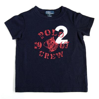 RALPH LAUREN 深藍鬥牛犬印花短袖T恤(2歲)