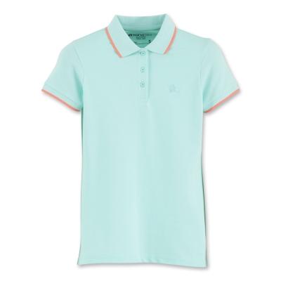 Hang Ten - 女裝 - 基本多彩提條配色POLO-水藍