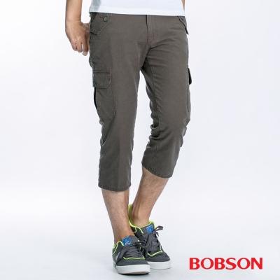 BOBSON男款貼袋休閒七分褲