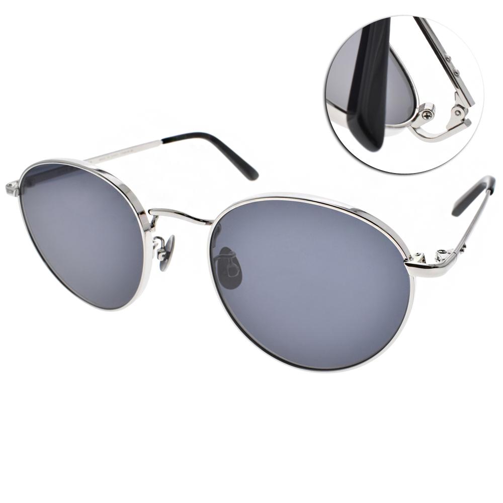 NINE ACCORD太陽眼鏡 輕量圓框/銀-藍鏡片#KISSING FRAN C02