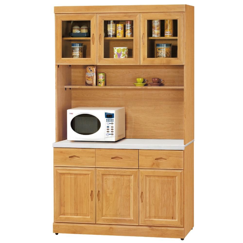 品家居 卡斯4尺石面餐櫃組合-121x42x204.5cm-免組