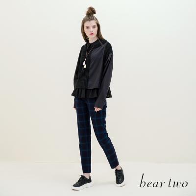 beartwo-復古波普風彩色格紋配色長褲-二色-動態show