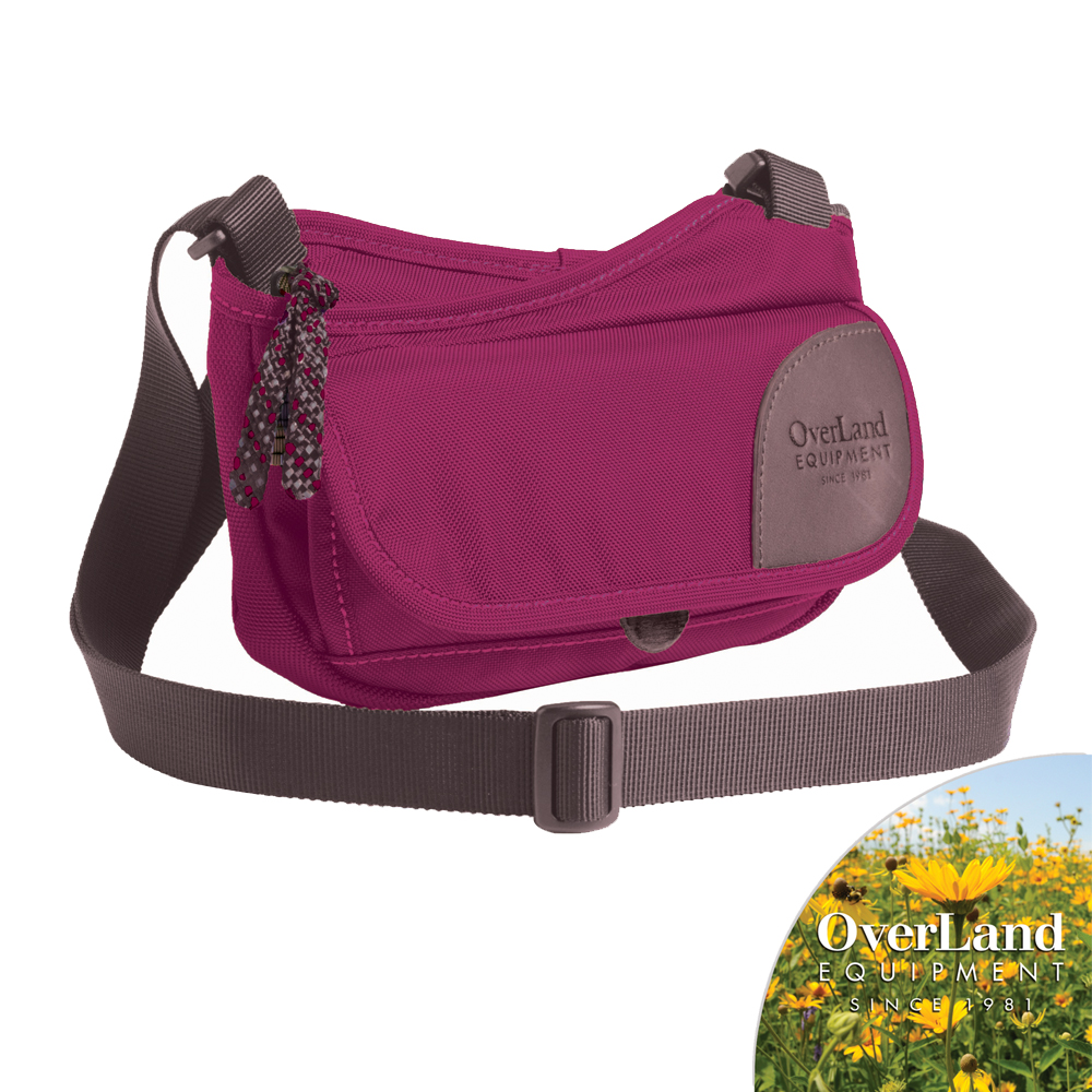 【OverLand】Pixley側背包-紫紅色