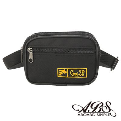 ABS愛貝斯 MIT輕量防潑水多功能腰包 防搶包(百搭黑)711