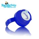 Pacific Baby 美國學習配件組-鴨嘴型矽膠奶嘴+學習杯握(天天藍)