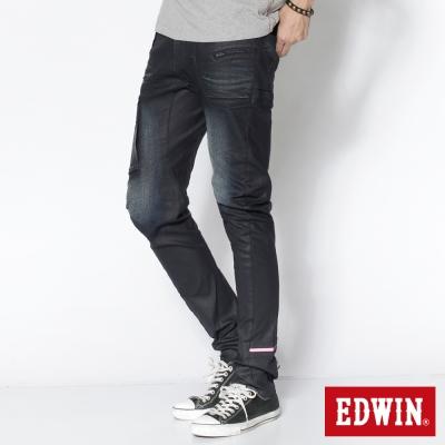 EDWIN 窄直筒 E-FUNCTION牛仔褲-男-原藍磨