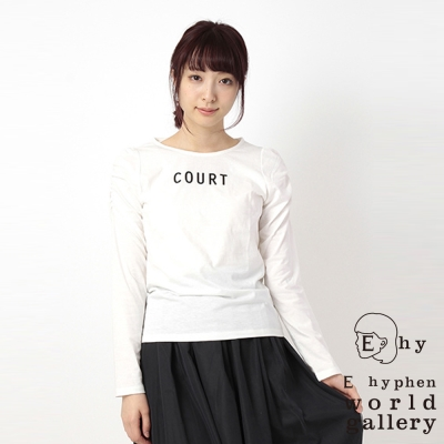 E hyphen world gallery COURT公主袖標語上衣