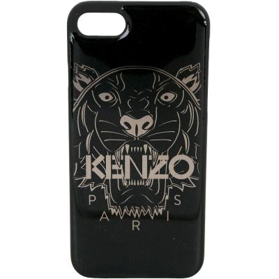 KENZO 3D Tiger iPhone 7 虎頭圖案塑料手機殼(黑色)