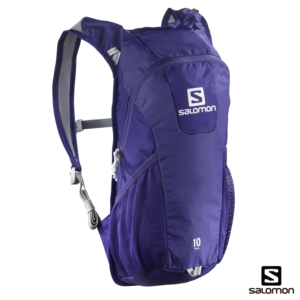 Salomon 所羅門 TRAIL 10 水袋背包 光譜藍/ 白