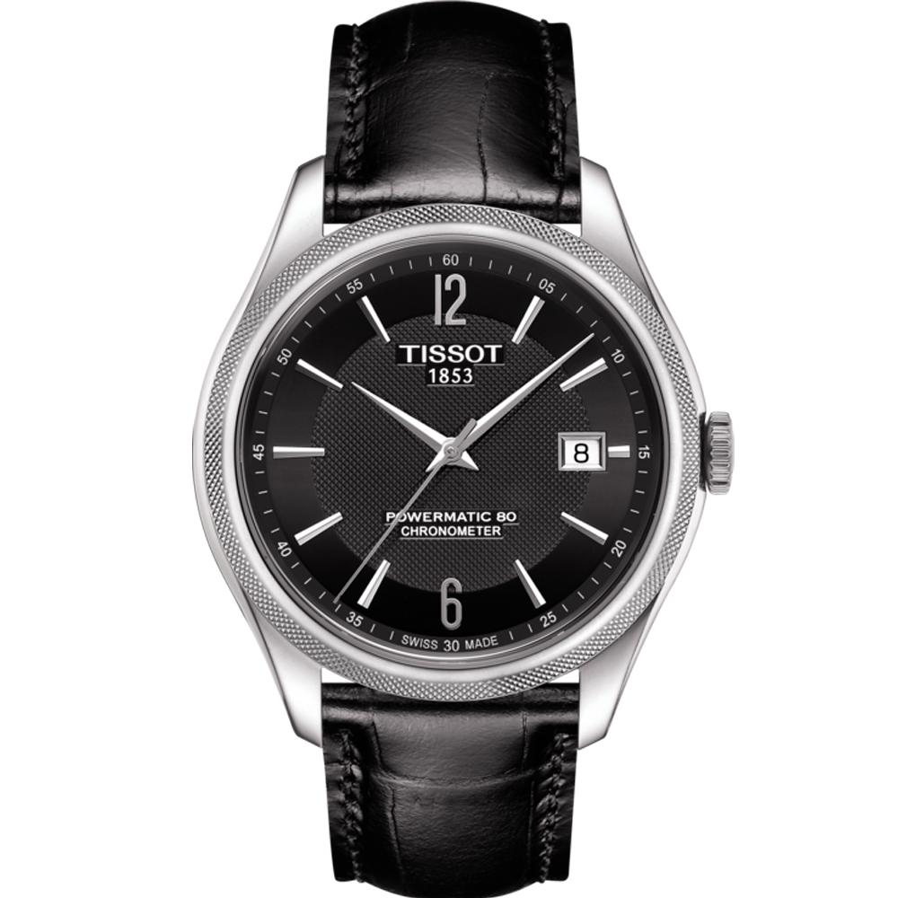 Tissot 天梭Ballade系列 Powermatic 80機械腕錶-黑/41mm