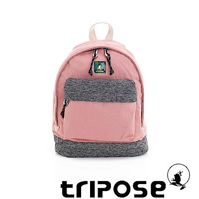 tripose 微旅輕量岩紋配色防潑水後背包 粉