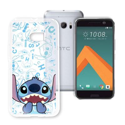 迪士尼 HTC 10 / M10 大頭透明手機軟殼(摀嘴史迪奇)