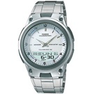 CASIO 都會時尚雙顯腕錶(AW-80D-7A)-銀白錶面/40mm