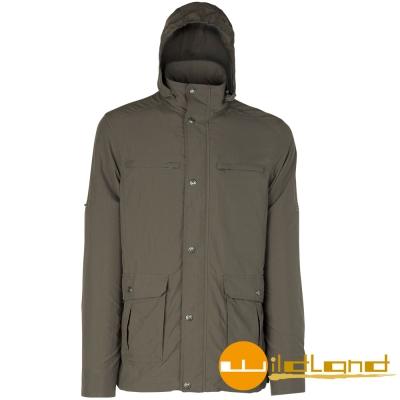 【Wildland 荒野】0A01910男 涼感紗抗UV輕薄外套(63深卡其)
