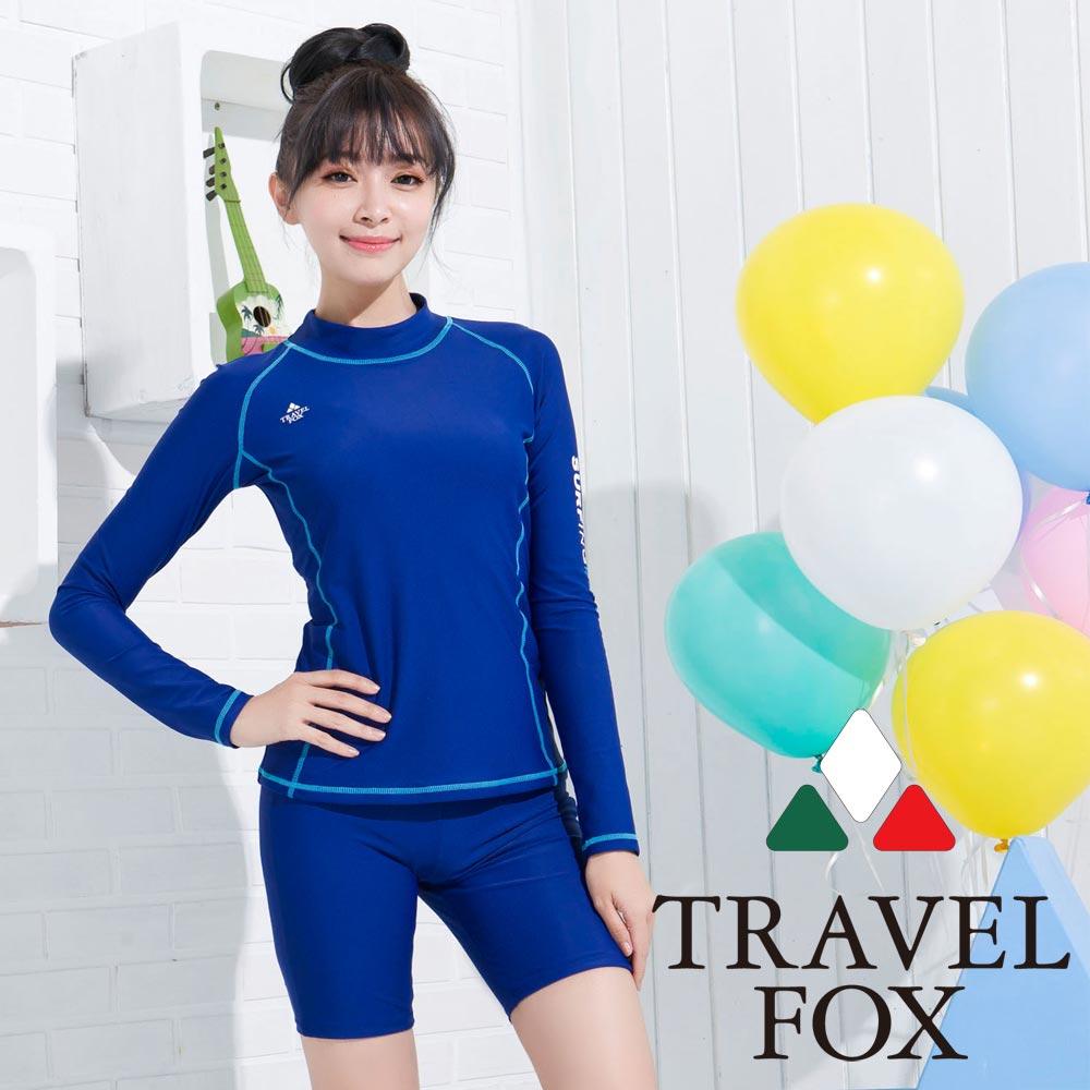 夏之戀TRAVEL FOX 沁藍衝浪裝兩件式泳衣