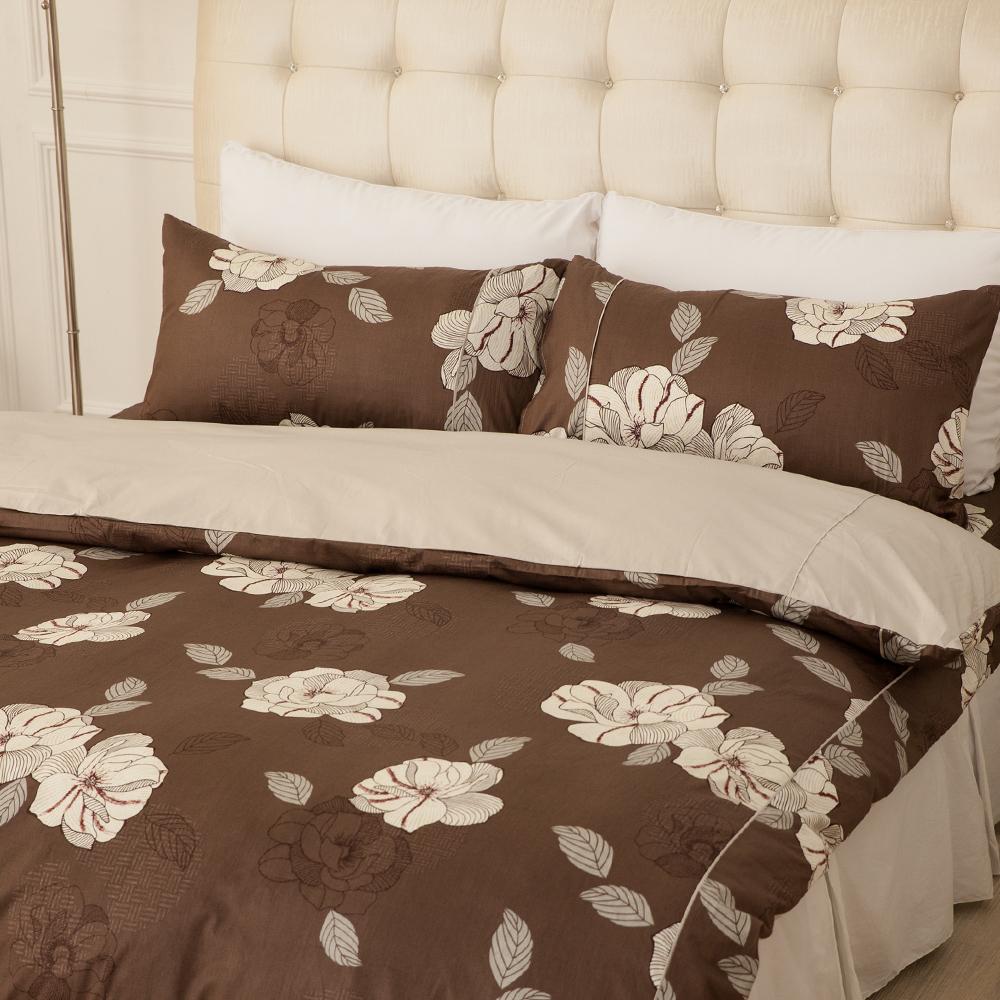 LAMINA  憂之戀-咖  雙人三件式精梳棉床包組