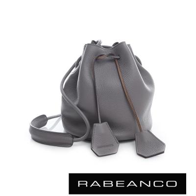 RABEANCO 真皮荔枝紋經典束口水桶包 - 紫丁香