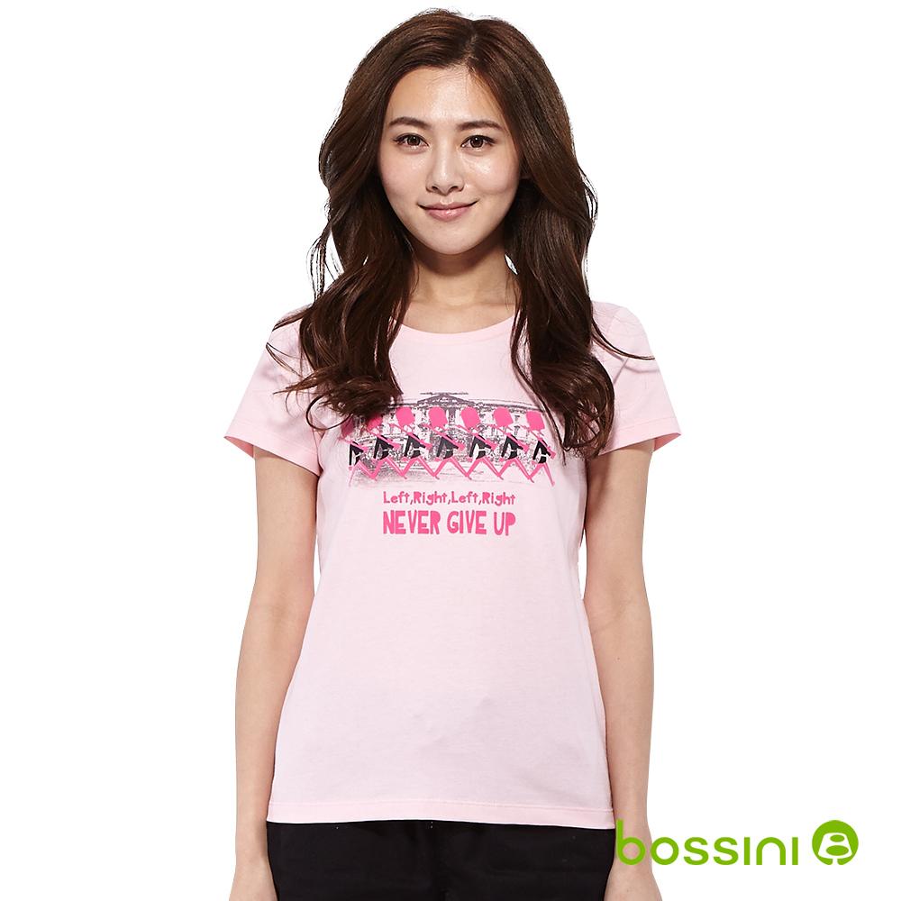 bossini女裝-印花短袖T恤79嫩粉
