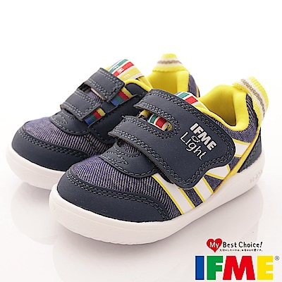 IFME健康機能鞋 輕量包覆學步款 EI00156 黃藍 (寶寶段)