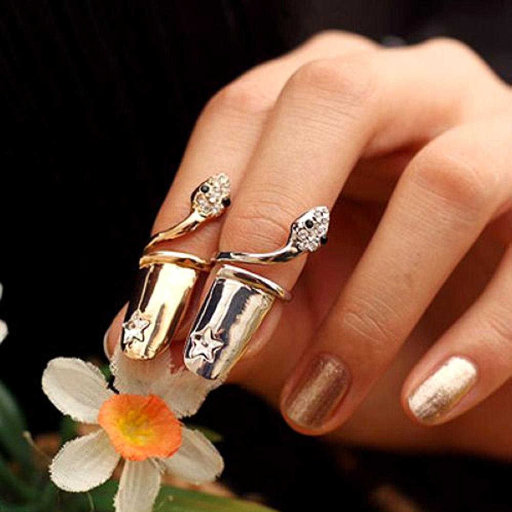 【Aimee Toff】星光小蛇造型指尖戒指(2色u組)