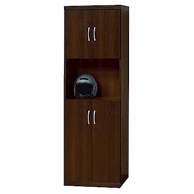 品家居 東妮2尺半開放式高鞋櫃(四色)-60.6x39.3x181.8cm免組