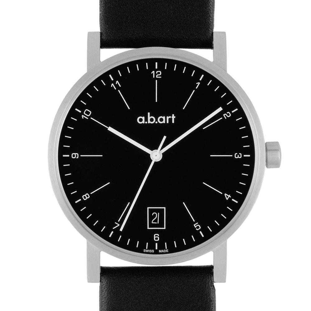 a.b.art O系列 包浩斯基本經典腕錶-黑/40.5mm