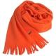 LACOSTE 經典品牌鱷魚圖騰刺繡LOGO造型保暖圍巾(鮮橘) product thumbnail 1