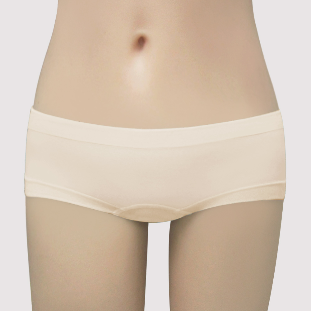 曼黛瑪璉-IceBar涼感  低腰平口無縫褲(麥穗膚)