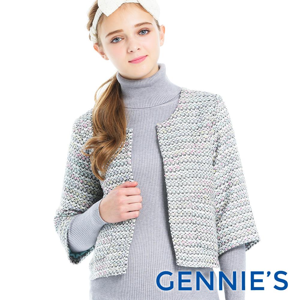 Gennies-經典小香風毛呢短外套(T6A02)-白