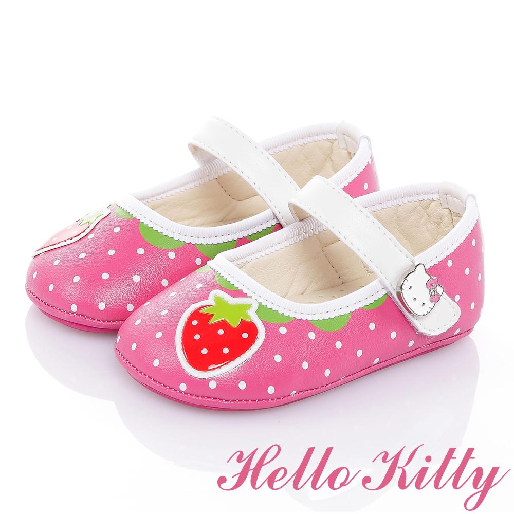 HelloKitty 草莓系列手工超纖減壓防滑學步娃娃鞋-桃