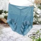 內褲  細緻提花親膚蠶絲無痕高腰內褲-綠 La Queen