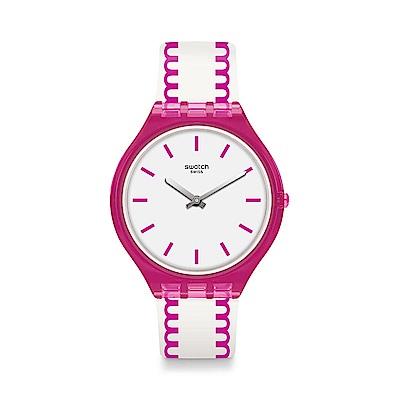 Swatch SKIN超薄系列 SKINPUNCH 超薄線圈手錶